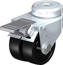 Blickle 276394 Dubbel apparaatzwenkwiel, Ø 50 mm met bevestigingsgat en rem Uitvoering (algemeen) Dubbele wielen met be