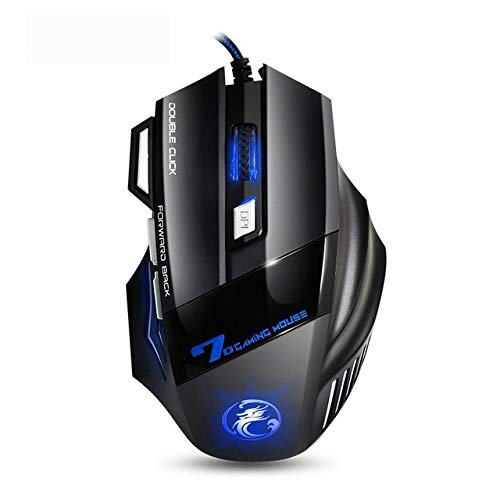 OUYAWEI Professionele Wired Gaming Mouse 7 Knop 5500 DPI LED Optische USB Computer Muis Game Muis Stille Mause voor PC Zwart