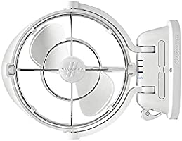 Caframo 7010CAWBX Sirocco II. Mounted Fan. 360 Airflow. Ultra Quiet, 12/24V Compatible. White, Small