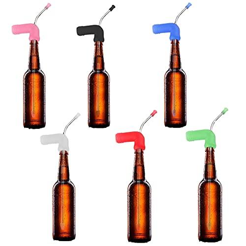 BBYU Bier Trichter Bier Schnorchel, Trichter Flasche Adapter Party Strohwerkzeug für Normale Dosen Hohe Dosen und Flaschen Biertrinkspiele Trichterflaschenadapter, Party Straw Tool (Blau)