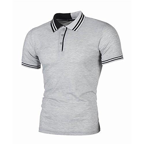EUZeo Herren Kurzarm Sommer T-Shirts Lässig Slim Fit Business Style Poloshirts Tees Hemden Manner Tops Herrenmode Streetwear