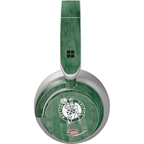 Skinit Decal Audio Skin Compatible with Surface Headphones - Officially Licensed NBA Boston Celtics Hardwood Classics Design
