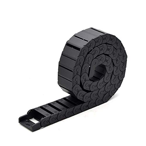 YOBAIH Cable Drag Chain Cable Chain Semi-Enclosed 15 * 20 30 40 50mm Wire Transmission Carrier Plastic Drag Towline For 3D Printer CNC Engraving Machine (Bending Radius : 38mm, Inner Size : 15x20mm)
