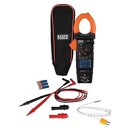 Clamp Meter, HVAC Meter with TRMS Tests AC/DC Voltage, AC Current, Temperature, DC micro amps, More Klein Tools CL440