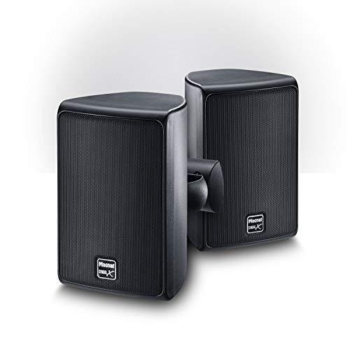 Magnat Symbol X 130, Indoor- und Outdoor-Regallautsprecher, Kompakt-Lautsprecher für professionelle und semiprofessionelle Beschallung, spritzwassergeschützt, 1 Paar, Farbe:Schwarz