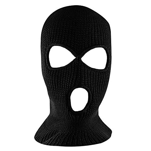 Punto negro cara cubierta máscara de esquí térmico para ciclismo y deportes