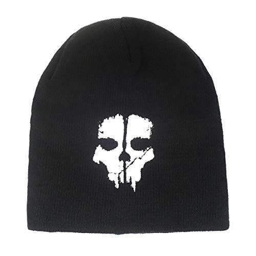 Schwarze Beanie mit Call of Duty Motiv CoD Mütze Ghosts