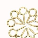 200 piezas de metal metal Mini mini agujas alfileres Pasadores para ojales Ojales de gancho Cierres de tornillo Hallazgos de joyería Accesorios roscados 0# 03# 04# 05#, 03 Oro