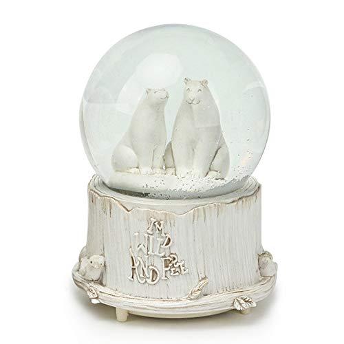 SURPRIZON Polar Bear Globo de Nieve Musical Familiar con Luces LED Que cambian de Color, Copo de Nieve automático, melodía de Juego