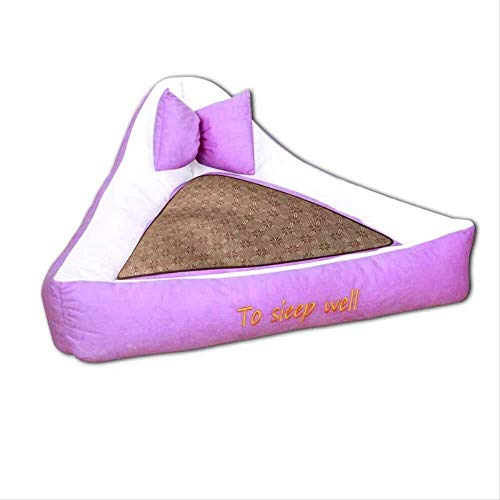 TOMSSL Cottage Pet Supplieskennels Pet Nestsize: 59X59X20Cm Pet Mat Kleines Hundebett Cat House Puppy Kitten Warm Cushion