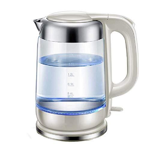 LXDZXY Hervidores de Agua, Hervidor Eléctrico de Vidrio, Hervidor de Agua Ecológico de 1,7 L con Led Iluminado, Hervidor de Agua Inalámbrico Gratuito con Tapa Inferior Interior de Acero Inoxidable, P