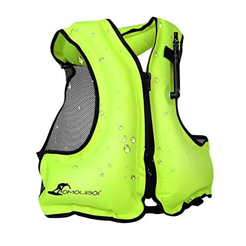 OMOUBOI Inflatable Swim Vest for Adult, Buoyancy Aid Safety Snorkel...