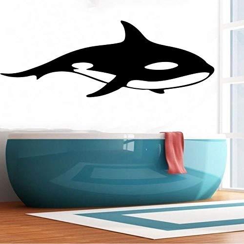 Etiqueta engomada de la Pared de la Orca Hueca decoración de la Pared Impermeable decoración de la habitación Papel Pintado Autoadhesivo de PVC Negro 79x29cm