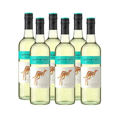 Yellow Tail Moscato – Süßer Weißwein aus Australien 7,5% vol. Alkohol (6 x 0,75l)
