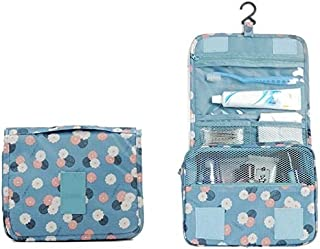 BEESCLOVER Printing Hooks Makeup Toiletry Case Wash Bag Large Capacity Outdoor Travel Cosmetic Bag Portable Storage Bag A One Size