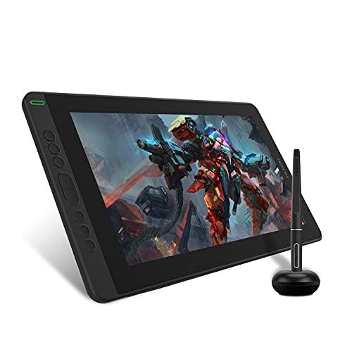 HUION Grafiktablett mit Display Kamvas 13(ohne Ständer) Volllaminatbildschirm 8 programmierbare Drucktasten, unterstützt die Konnektivität mit Android-GerätenIdeal für Home-Office & E-Learning