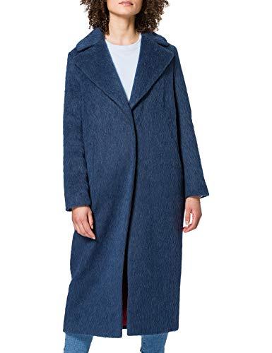 TOMMYNOW - Tommy Hilfiger Damen Mantel Cher Wool Coat Blau, Medium