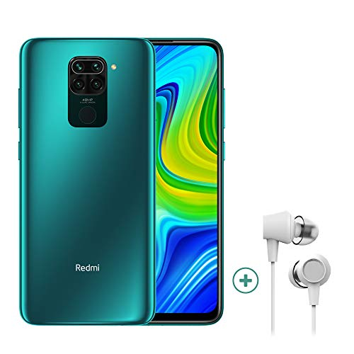 "Xiaomi Redmi Note 9 Smartphone + Kopfhörer (16,59 cm (6,53"") FHD+ Display, 128GB interner Speicher, 4GB RAM, 48MP Quad-Rückkamera, 13MP Frontkamera, Dual-SIM, Android 10) Grün - [Exklusiv bei Amazon]"
