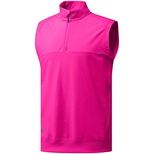 Adidas Golf Herren Classic Club 1/4 Zip Weste, Real Magenta, Medium