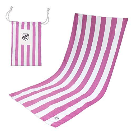 HAIMEEC Toalla de playa de microfibra | Toalla sin arena, ligera, de secado rápido, toalla de natación compacta para adultos (XL extragrande 180 x90 cm)