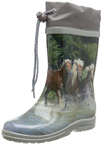 Beck Mädchen Pferde Gummistiefel, Mehrfarbig (multicolor 50), 34 EU