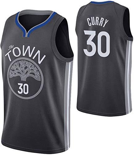 Golden State Warriors # 30 Uniforme de Baloncesto para Hombres, Camiseta Bordada clásica de poliéster, Camiseta de Baloncesto sin Mangas para Malla Transpirable Chaleco de Camiseta