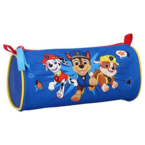 Paw Patrol Kinder Schlampermäppchen mit Motiv, rund, Ø8,5 cm/18,5 cm, blau