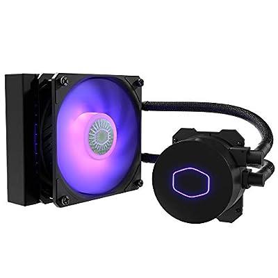 Cooler Master MasterLiquid ML120L V2 RGB CPU Liquid Cooler - Brighter Lighting Effects, 3rd Gen. Pump, Superior Radiator and Advanced 120 mm SickleFlow Fan, Black
