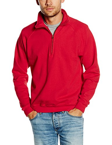 Fruit of the Loom Ss108m Sudadera, Rojo (Red), X-Large (Talla del Fabricante: X-Large) para Hombre