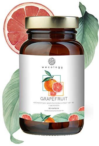 NEU: Grapefruitkernextrakt Kapseln Hochdosiert von WECOLOGY® I 120 Stück für 4 Monate I Grapefruitkern-Extrakt Vegan mit 45% Flavonoiden