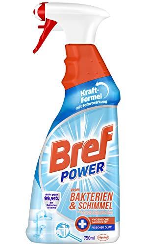 Bref Power gegen Bakterien und Schimmel, 750 ml, Sprühflasche, entfernt 99,99 Prozent der Bakterien und Keime für hygienische Sauberkeit