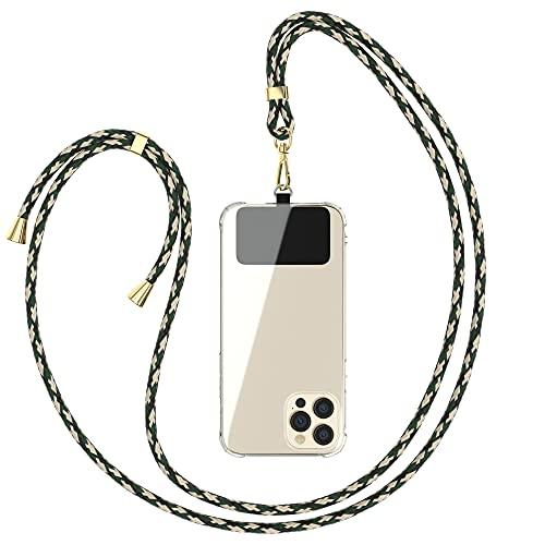 EAZY CASE Universal Handykette geeignet für alle Smartphones, Kette zum Umhängen, Hülle mit Kordel, Smartphonekette für Unterwegs, Handyband mit jeder Hülle kombinierbar, Grün Camouflage