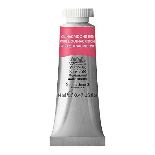 Winsor y Newton - Acuarela Profesional, rojo quinacridona, tubo 14 ml