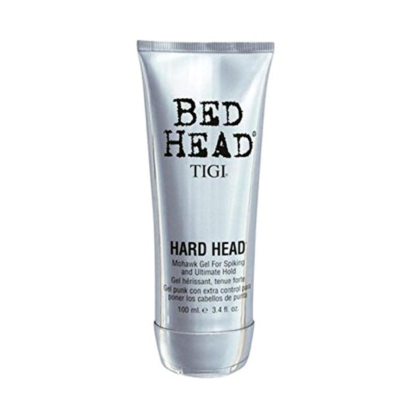 油芸術的抵抗力があるティジーベッドヘッドハードヘッドモヒカンゲル(100)に x4 - Tigi Bed Head Hard Head Mohawk Gel (100ml) (Pack of 4) [並行輸入品]