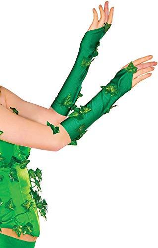 Rubie's 38033_NS 38033 Women's DC Comics Poison Ivy Glovelette Costume, One Size, Green