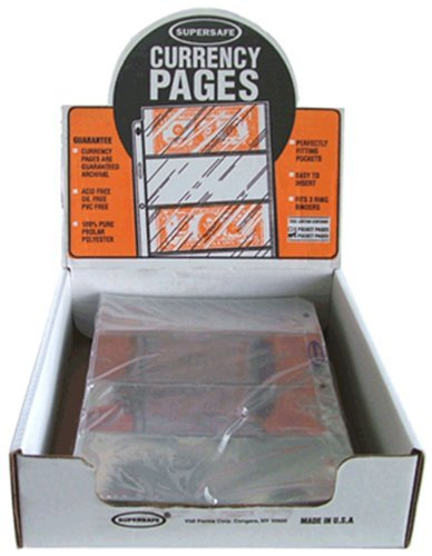 100 SuperSafe 4 Pocket Pages for Small Currency