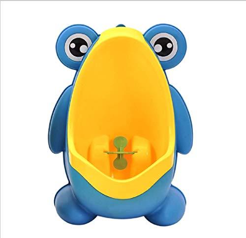 Addestramento dell'orinatoio della toilette del vasino della rana dei bambini della rana con l'addestratore di pipì divertente dei ragazzi vorticosi (blu)