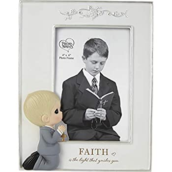 Precious Moments 202429 Faith is The Light That Guides You Boy Resin Photo Picture Frame One Size Multicolored