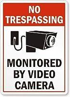 レトロなアルミニウム金属サインブリキ看板、ビデオカメラMによって監視された立ち入り禁止、ティンバーヴィンテージの壁の装飾カフェバーパブホームビール装飾工芸品レトロなヴィンテージサイン