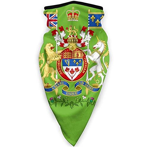 Flagge von Kanada Sports Face Cover Multifunktionstuch Sturmhaube für Erwachsene Manschetten Kopfbedeckung Winddicht Schals und Kopftücher Halstuch Unisex Gesichtsmaske Schwarz