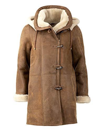 Celtic & Co. Womens 100% 100% Sheepskin Classic Duffle Coat - Walnut - Size Small