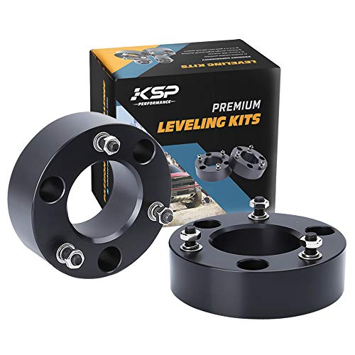 "Leveling Lift Kit for Ram 1500, KSP 2"" Front Strut Spacers Aircraft Billet Suspension Kit for 2006-2020 Ram 1500 4WD 4X4, Lift You Pickup 2 Inch"