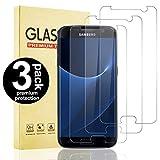 Snnisttek 3 Stück Schutzfolie Samsung Galaxy S7, Hohe Transparenz/Definition, Einfache Installation, Anti-Öl, Blasenfrei Panzerglas Samsung S7 Galaxy