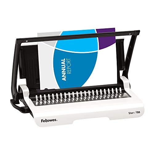 Fellowes Plastikbindegerät Star+ 150 für das Home Office, mit Dokumentmessfunktion, Bindeleistung 150 Blatt, Stanzleistung 15 Blatt, durchgängiger Hebel