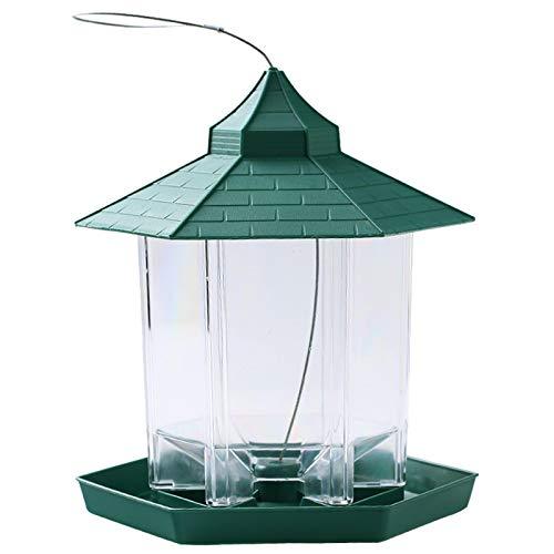 Alimentador de pájaros salvajes - Contenedor de alimentos de gran capacidad para colgar farolillo alimentador para pájaros al aire libre de mascotas, decoración de jardín