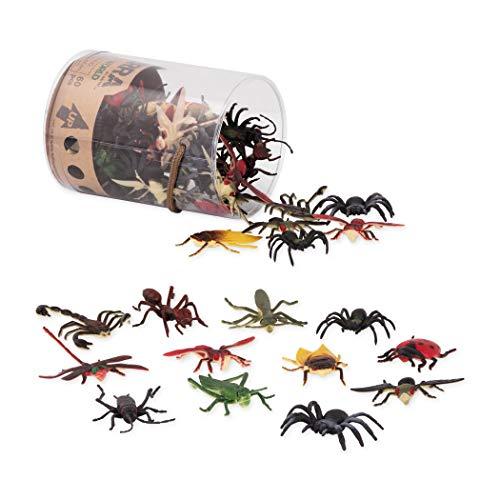 Terra By Battat AN6077Z Insect World, Battat Wildlife Tiere, Figuren, Plastikfiguren, Terra Miniaturen, sortierte Spielzeuge und Kuchendekorationen für Kinder ab 3 Jahren (60 Stück), mehrfarbig