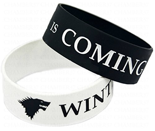 Chamber37 Winter is Coming - Bracciale in Silicone x 2