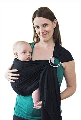 Maman Kangourou Aprica Ring Sling Baby Carrier, Black