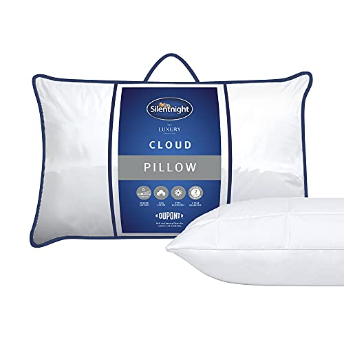 Silentnight Luxury Cloud Pillow, Medium Support Ideal for Back and Side Sleepers
