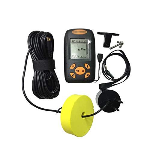 LSGMC Buscador de Peces Portátil, Funciona con Pilas, con Sensor de Sonda con Cable y Pantalla LCD, Rango de Profundidad de 100 M / 328 Pies, para Barcos, Kayaks, Pesca en Río, Pesca en Hielo